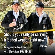 McGee - Should you really be carrying a loaded weapon right now?