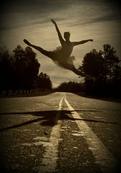 Ballerina (ballet,dance,vintage,old photo,ballerina,dancer,dancing,leap,leaping,dancer leaping,art,creative)