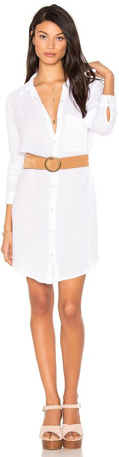 79aacb676056d Shop for Michael Stars Button Shirt Dress in White at REVOLVE.