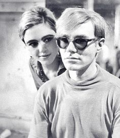 Edie Sedgwick and Andy Warhol.