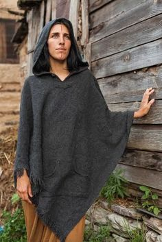 Wool Poncho for Woman.   #poncho #naturalsilk #TribalPoncho #tribal #naturalclothing #naturalfabrics #earthy #natural #rusty #wool #handmade #handloom #eco #fairtrade #KhadiCotton #Rastaman #MexicanThreadsBaja #Sweatshirt #BajaJacketPoncho #BohoGypsy
