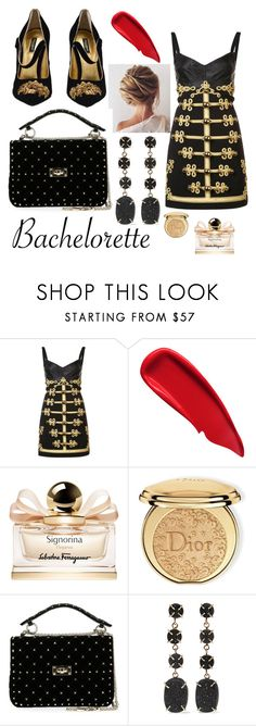 """bachelorette"" by tubuku4u ❤ liked on Polyvore featuring Dolce&Gabbana, Sisley, Salvatore Ferragamo, Christian Dior, Valentino and Melissa Joy Manning"