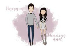 custom couple portrait - wedding day by Blanka Biernat