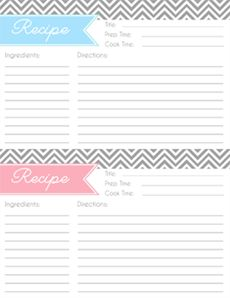 Free printable recipe cards & organizing ideas