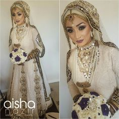 NO TRIAL....And here is the completed Hijabi Bridal look created by @aishanazirmua For bookings contact: 07917639169 Birmingham #mua #makeupartist #bridalmakeovers