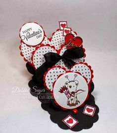 Happy Valentine's Day Triple Easel Card!