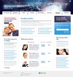 Fortune Telling Website Templates by Glenn