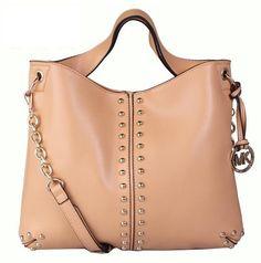 http://www.bonanza.com/listings/Worldwide-Free-Shipping-Michael-Kors-Chain-And-Rivet-Astor-Bag-Beige/174419669