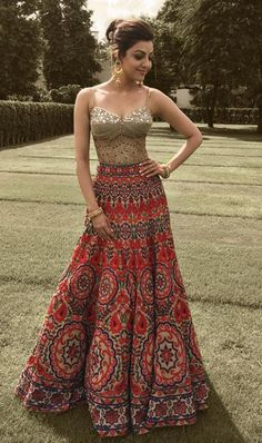 Glam Outfit Ideas for Indian Bridesmaids for every Ceremony Indian Lehenga, Indian Gowns, Indian Attire, Indian Wear, Lehenga Choli, Indian Bridal Outfits, Indian Designer Outfits, Designer Dresses, Indian Wedding Dresses
