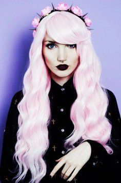 Find Pastel Goth Outfits From Dresses, Hoodies, and Tops at RebelsMarket. Hair Color For Black Hair, Cool Hair Color, Pink Hair, Ombre Hair, Pastel Goth Nails, Pastel Grunge, Dyed Hair Pastel, Pastel Pink, Emo Mode