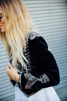 Chiara Ferragni jacket - New York Fashion Week September 2016