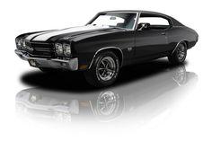 1970 Black Chevrolet Chevelle Super Sport Chevelle SS LS6 454V8 450 HP 4 Speed. Source: RK Motors.