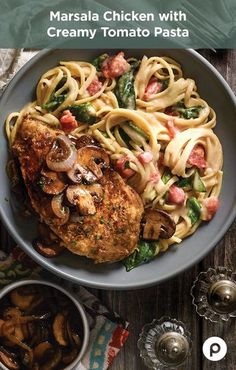 This recipe sounds like one of those specials the server tells you about at a nice restaurant. You know, the specials you usually ignore because you already know what you want. If this Publix Aprons recipe for Marsala Chicken with Creamy Tomato Pasta were one of those specials, you'd pay attention. You may even rethink your order. You may even rethink many of the decisions you've made in your life up to this point.