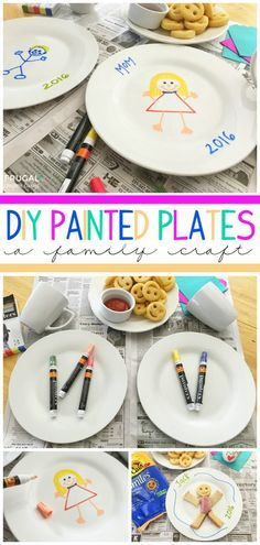 Painted Plates Craft with McCain Smiles on Frugal Coupon Living - enjoy crafts this fall with McCain Fries. : #JoyintheKitchen #ad