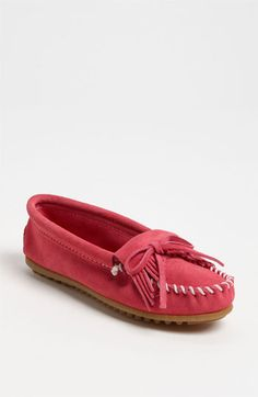 Minnetonka Kilty Suede Moccasin available at Nordstrom LOVE! I'll take a pair in every color!