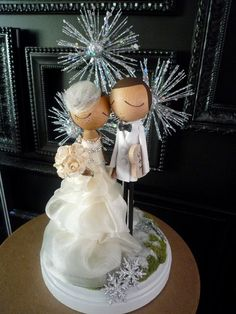 Custom Keepsake Wedding Cake Topper with by MilkTeabyBthanari, $190.00