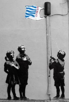 Street Art by Banksy. - Street Art by Banksy. Street Art by Banksy. 3d Street Art, Street Art Banksy, Urban Street Art, Amazing Street Art, Street Artists, Urban Art, Banksy Graffiti, Graffiti Artwork, Graffiti Drawing