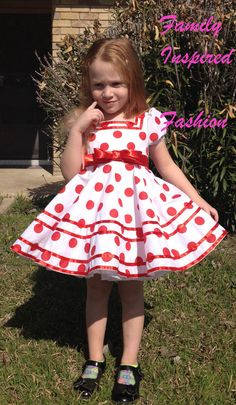 Shirley Temple replica dress with square neckline and twirl skirt. SLIP IS NOT INCLUDED. Machine wash gentle. Dry low heat. 100% cotton. PETTICOAT IS NOT INCLUDED. LISTING IS FOR DRESS ONLY.