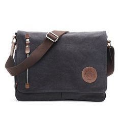 Romantic Walker Canvas Messenger Bag Shoulder Bag Briefcase Satchel 14.6 Inches -- Check out the image by visiting the link. (This is an Amazon Affiliate link and I receive a commission for the sales)