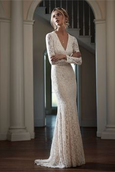 """It really doesn't matter what your dream wedding dress looks like. BHLDN's spring 2016 collections spans so many styles and silhouettes, there's a dream dress in there for almost every bride. Looking for texture? Check. (See: the Gabriella Gown.) Want an dramatic hemline? Check. (The Vega Dress will totally wow your guests.) In the market for something affordable? Gowns start at just $300 and max out at $2,900, with many below the $1,500 mark. Oh, and if """"fancy designer label..."""