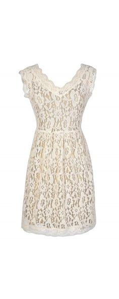 Bittersweet Lace Dress in Cream