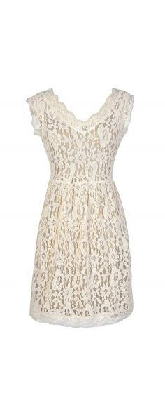 Bittersweet Lace Dress in Cream