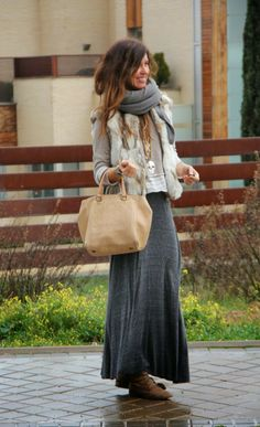 Grey and Beige for a Fall Day
