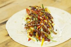 Pulled Pork Wraps Barbecue Style