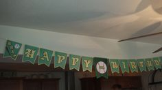 Birthday Banner for an A's  fan!