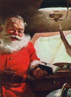 Santa Claus painting by Haddon Sundblom - photo by Mary Pat (contrarymary), via Flickr