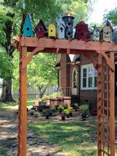 Bird Town | Miniature Gardens & Outdoors | Garden arbor ...