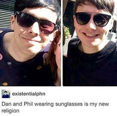 Dan has horrible taste in sunglasses