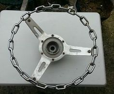 3 Spoke Chain Link Steering Wheel