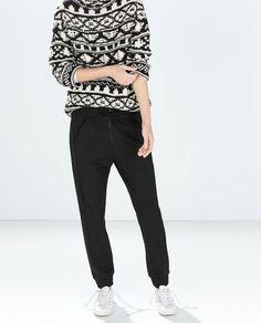 Imagine 1 din PANTALON JOGGING FERMOAR de pe Zara