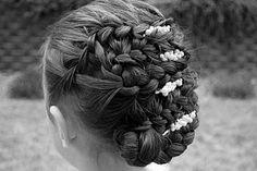 Waterfall Updo Hairstyle @ Princess Piggies
