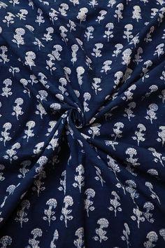 Dabu Print, Indigo Prints, Flower Circle, Blue Block, Bridal Outfits, Fabric Online, Light Beige, Printed Cotton, Printing On Fabric
