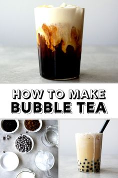 Make the best homemade bubble tea at home with this delicious and refreshing recipe. Make the best homemade bubble tea at home with this delicious and refreshing recipe. Milk Tea Recipes, Coffee Recipes, Chai Milk Tea Recipe, Drink Recipes, Dessert Recipes, Smoothie Drinks, Fruit Smoothies, Smoothies Coffee, Yummy Drinks