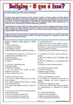 AMIGA DA EDUCAÇÃO.: TEXTO E ATIVIDADES SOBRE BULLYING.