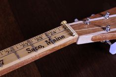 Perfect for measuring out your fret wires on your Strum Stick. Cigar Box Projects, Cigar Box Crafts, Making Musical Instruments, Homemade Instruments, Diy Instrument, Ukulele, Music Guitar, Cigar Box Nation, Cigar Box Guitar Plans