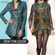 Sew the Look: McCall's M7288 jacket sewing pattern. Perfect longline jacket for brocades.