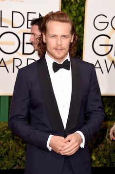 Here are new HQ pics of the cast of Outlander on the red carpet at the the Golden Globes More after the jump! –