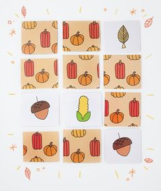 Keep Them Busy This Thanksgiving! Clever DIY Thanksgiving Crafts For Kids - including this free printable memory game.