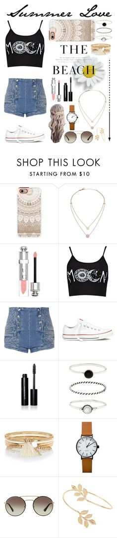 """Summer Love!!"" by rhiannonpsayer ❤ liked on Polyvore featuring Casetify, Michael Kors, H&M, Christian Dior, Boohoo, Pierre Balmain, Converse, Bobbi Brown Cosmetics, Accessorize and River Island"