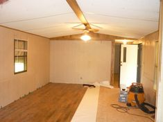 This modern single wide mobile home update is one of the best we've shared. Plenty of ideas for you to use for your own single wide home. A reader favorite! Mobile Home Redo, Mobile Home Repair, Mobile Home Makeovers, Mobile Home Living, Mobile Home Decorating, Decorating Ideas, Decor Ideas, Kitchen Makeovers, Bathroom Makeovers