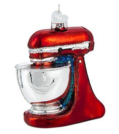 Old World Christmas - Stand Mixer Ornament - Hand Painted Blown Glass