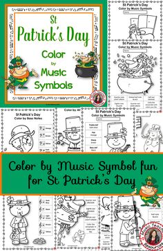St Patrick's Day Color by Music Symbols! ♫ CLICK through to see the whole set! Or save for later! St Patrick's Day Music, Music For Kids, Child Teaching, Teaching Music, Teaching Ideas, Music Classroom, Classroom Resources, Academy Of Music, Music Symbols
