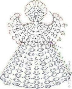 Afbeeldingsresultaat voor patroon engeltjes haken