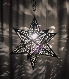 "21"" Moravian Star Punched Metal Tin Mexico Pendant Light Lamp Pendant Chandelier #Handmade #Moroccan"