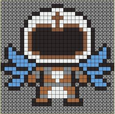 TYRAEL perler bead pattern by JeromeDIY - from Diablo - Heroes of the storm - by Blizzard