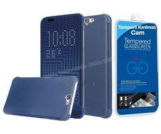 HTC One A9 Dot view Akıllı Kılıf Mavi + Temperli Kırılmaz Cam -  - Price : TL32.90. Buy now at http://www.teleplus.com.tr/index.php/htc-one-a9-dot-view-akilli-kilif-mavi-temperli-kirilmaz-cam.html